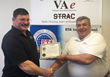 Brian C. Anderson is awarded the EF16@IWCE Veteran scholarship from John Shepard, Veterans Assembled electronics CEO.