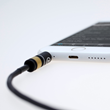 MYNUS - allows even bulky headphone plugs to plug right in, without even having to remove the case.
