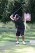 George Lopez takes an easy back swing at the 2015 Julius Erving Golf Classic in Philadelphia