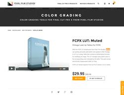 FCPX LUT Muted - Pixel Film Studios - FCPX Plugin
