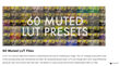 Final Cut Pro X Plugin - FCPX LUT Muted - Pixel Film Studios