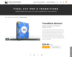 TransBlock Abstract - FCPX Plugin - Pixel Film Studios