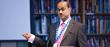 Hari-Babu Nadendla presenting Brunel University London's winning research.