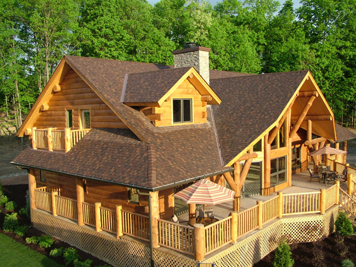One of the top sweepstakes of 2016 is giving away a log for Large log home plans