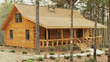The Carolina log home kits model - quaint but spacious log home living!