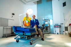 (right) Brazil's Dr Thomas Wolff, President of the Rio 2016 Olympic and Paralympic Veterinary Commission, leads a 130-strong world-class team of veterinary experts, including leading surgeon Carlos Eduardo Veiga (left)