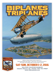 Biplanes and Triplanes WWI Airshow poster