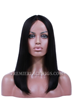 Indian Remy Hair Middle Part Bob Yaki Straight Glueless Lace Part Lace Wigs