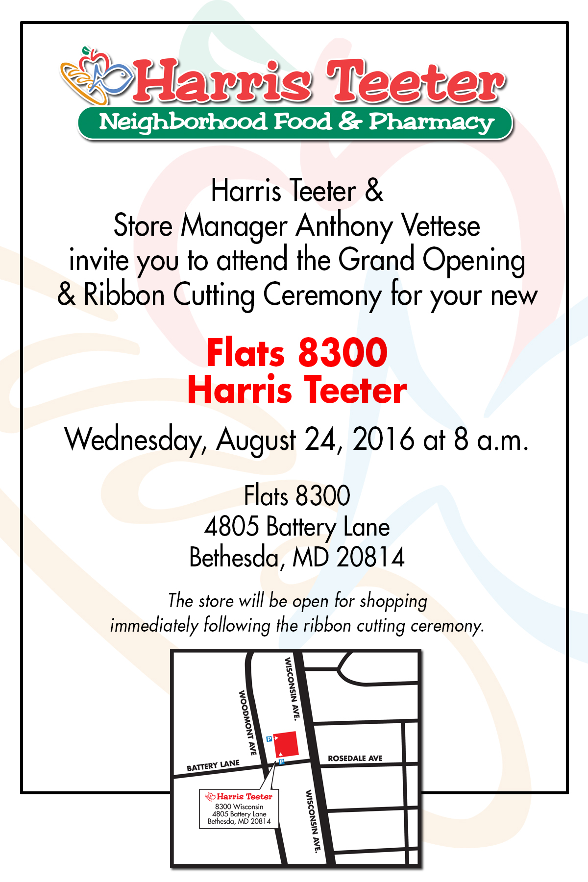 Grand Opening of Harris Teeter Store in Bethesda, Md.