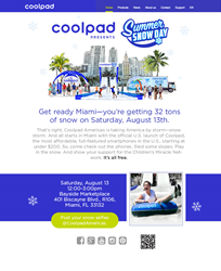 Coolpad Summer Snow Day promotion