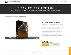 ProSlice Geometric - Pixel Film Studios Plugin - FCPX