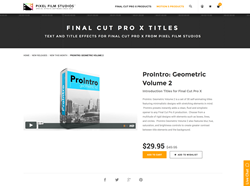 ProIntro Geometric Volume 2 - FCPX Plugin - Pixel Film Studios