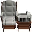 The amazing new product combines a rocking chair, with a bassinet, allowing parents or caregivers to rock their children to sleep while relaxing in the comfortable rocking chair.