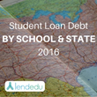 LendEDU's Student Loan Debt By State By School Report 2016