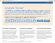 Frontline Systems Launches AnalyticSolver.com, Full-Spectrum Cloud-Based Advanced Analytics Familiar to Business Users