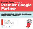 Pepper Gang Earns Google Premier Partner Status