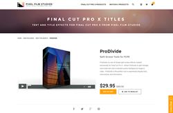 FCPX Plugin - ProDivide - Pixel Film Studios