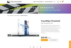 Pixel Film Studios Plugin - TransWipe Threshold - Final Cut Pro X
