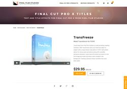 Pixel Film Studios Plugin - TransFreeze - FCPX