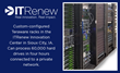 Teraware racks in the ITRenew Innovation Center in Sioux City, IA. Racks can be custom-configured to optimize data sanitization based on the type and volume of assets. They can connect to a private network to erase entire data center racks at a time, proc