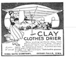 Joseph Clay invented the Sunshine Clothes Drier in 1913 and patented it in 1915. This is a copy of an advertisement for one of his models. We still make and sell the clothesline today in Parkersburg IA. Although features have improved, the general design