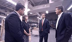 John Speckhart, Mary Speckhart - White Conveyors President, NJ Senator Thomas Kean and Stephen Speckhart - Vice President of Engineering
