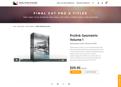 Final Cut Pro X - Pro3rd Geometric Volume 1 - Pixel Film Studios Plugin