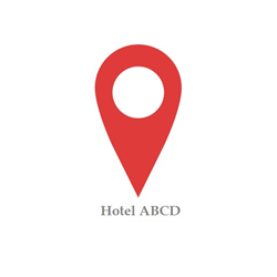 Geo-tag Indicator indicating a Hotel
