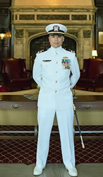 Lt. Cmdr. Eric Chitwood, U.S. Navy Reserves, Citadel Leadership Studies Student