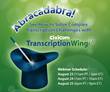 Abracadabra! Overcome Transcription Challenges with TranscriptionWing in New Civicom Webinar