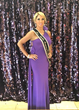 Carla Gonzalez, Ms. North America Universe  attends the Purple Sash Gala in Oklahoma City, supporting Domestic Violence Awareness