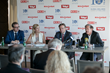 Global Wellness Summit press conference in Tyrol, Austria, 8/8/16. From left: Dr. Franz Linser, 2016 GWS co-chair; Susie Ellis, GWS chairman and CEO; Günther Platter, Governor of Tyrol; and Dr. Jürgen