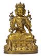 Sino-Tibetan Gilt Bronze Avalokiteshvara