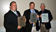 The winners of the prestigious Professional Numismatists Guild's 2016 Sol Kaplan Award for fighting numismatic-related crimes, (left to right) Jerry Jordan, Michael Fuljenz and Doug Davis.