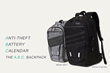 A.B.C Backpack by Klifit with Anti-Theft Lock, Built in Battery and Smart Calendar Launches on Kickstarter