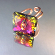 Adjustable Swarovski Crystal Ring in Volcano, Lexi Butler Designs