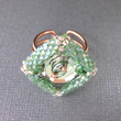 Adjustable Copper Beaded Bezel Swarovski Crystal Ring, Lexi Butler Designs