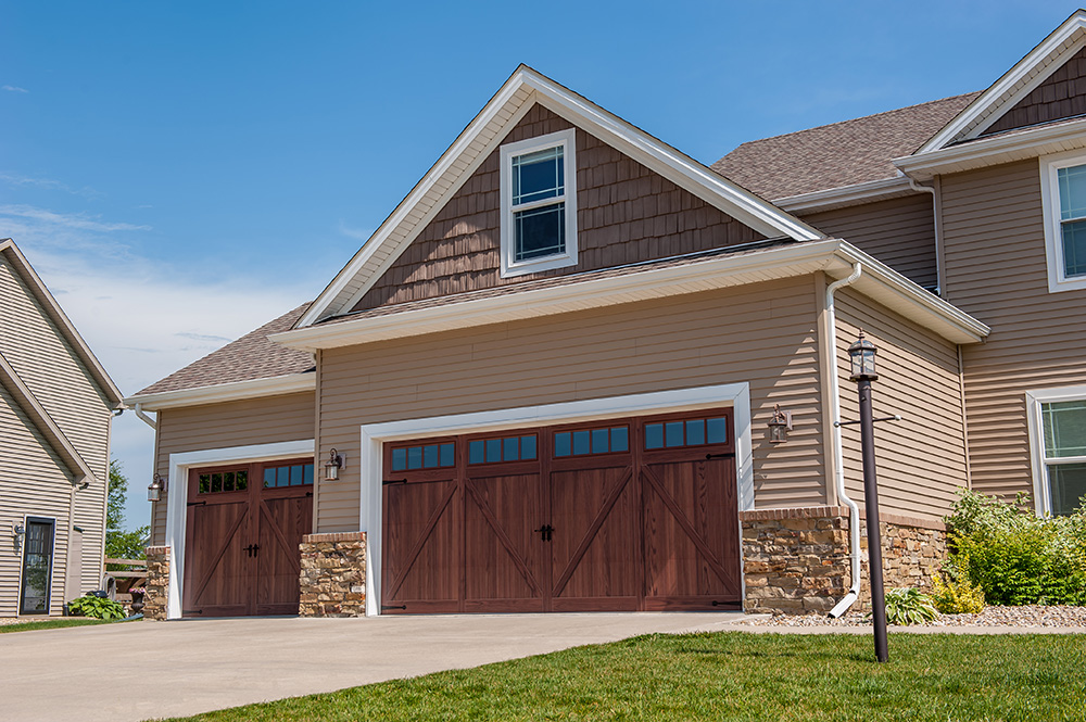 C h i overhead doors introduces accents flush overlay for Wood overlay garage doors