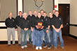 Denny Dickerson is honored at the National Mine Rescue Hall of Fame with the Doe Run team.