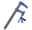 The Rockler Piston Clamp also features a flip-up ratcheting handle for greater leverage.