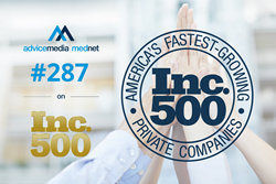 Advice Media ranked #287 on Inc. 500