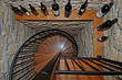 Spiral Staircase to Wine Cellar.