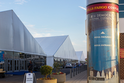 Democratic National Convention Media Tents installed by Arena Americas
