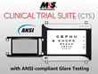 M&S Technologies' Glare Testing for Clinical Trial Suite (CTS) Complies with the ANSI Standard