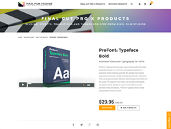 ProFont Typeface Bold - FCPX - ProFont Typeface Bold - Pixel Film Studios