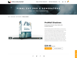 Pixel Film Studios Released ProWall Shadows for Final Cut Pro X