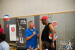 76ers Head Coach Brett Brown and Julius Erving preparing for the Erving Youth Clinic at The Salvation Army Kroc Center.