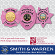 PINK Breast Cancer Awareness Badges Now Available from Smith & Warren, With a Portion of Proceeds to Benefit National Breast Cancer Foundation