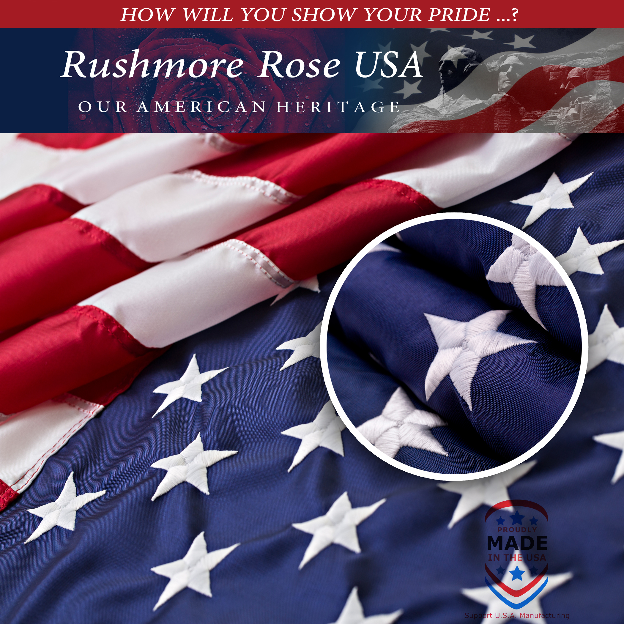 Rushmore Rose USA Launches New American Flag to Celebrate ...