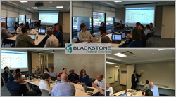 Blackstone Federal Service Employees participating in an internal hackathon.